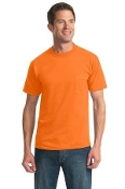 Port - Company 50-50 Cotton-Poly All-American Tee  Pocket