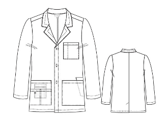 COLLEGIATE UNISEX ORIGINS LAB COAT